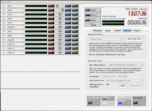 Metacorder's slick appearance and operation is very similar to the operating system of a dedicated hard disk recorder – including mirroring options.