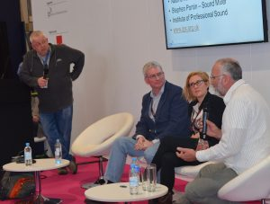Panel at BVE - Simon Bishop, Stephen Pontin, Nadine Richardson, Simon Clark (L-R)